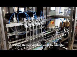 automatická řada 6 výdejních stojanů plnicího stroje na prací prostředek s obsahem chloru a chlóru