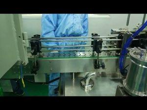 30 ml až 100 ml dvojitý pásový plnící a šroubovací stroj na kulatou láhev