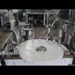 automatický stroj na plnění kapek, plnění malých lahví a uzavírací stroj