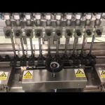 tekutý alkoholický krém lineární plnicí stroj, med sklenice malé láhve olejové náplně