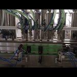 stroj na plnění lahví s tekutým mýdlem na píst