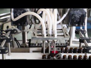 Stroj na plnění a uzavírání 120 ml olivového oleje